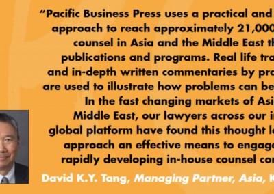 David Tang K&L Gates Inhousecommunity Testimonial