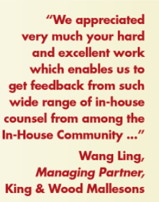 King & Wood Mallesons Wang Liang In-House Community Testimonial