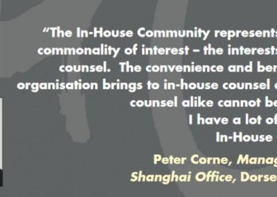 Peter Corne Testimonial In-House Community