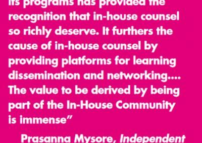 Prasanna Mysore In-House Community Testimonial