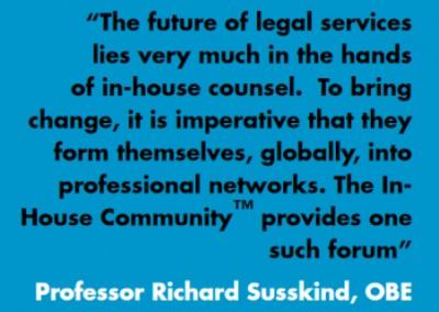 Richard Susskind Inhouse Community Testimonial
