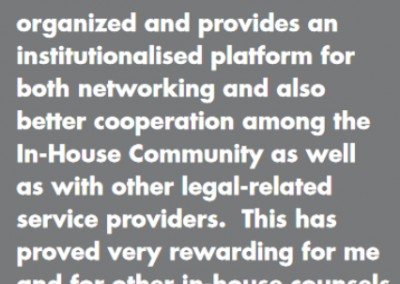 Sinomach General Counsel In-House Community Testimonial