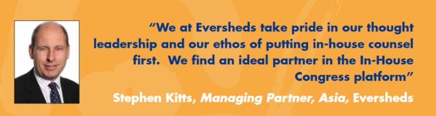 Stephen Kitts Eversheds InhouseCommunity Testimonial