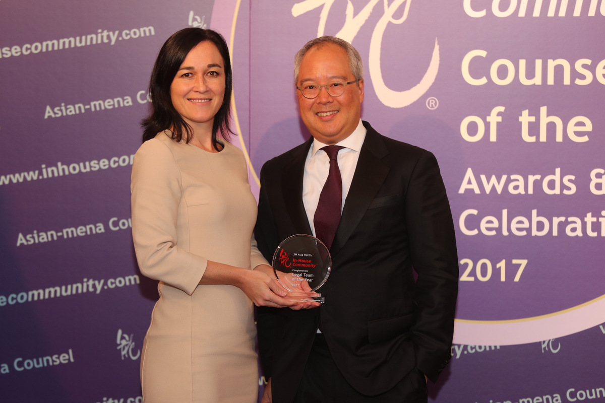 Conglomerate Winner: 3M Asia Pacific – 3M China's Albert Wang receives the award