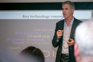 Peter Connor, speaking at the Legal Inno'Tech Forum in Hong Kong