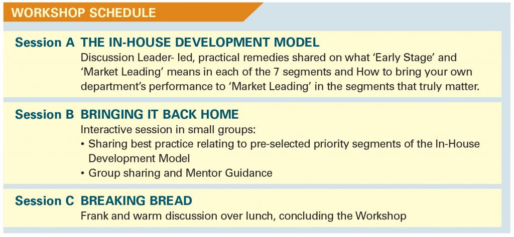inhouse workshop schedule